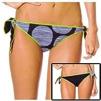 ロキシー ROXY 水着 Follow the Sun Retro Tie Side Reversible Bikini Bottomブラック No22