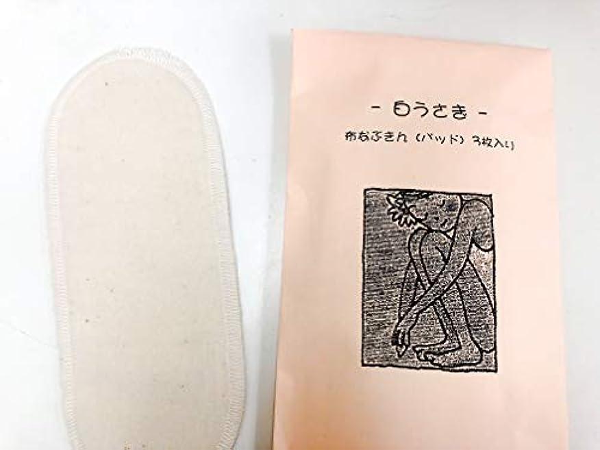 護衛ピカリング流行白うさぎ 布ナプキン(パッド) 3枚セット