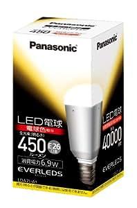 パナソニック EVERLEDS LED電球(密閉型器具対応・口金直径26mm ・一般電球形・電球30W相当・450ルーメン・電球色相当)LDA7LA1
