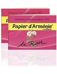 Papier d'Arménie パピエダルメニイ ローズ 紙のお香 フランス直送 [並行輸入品] (2個)