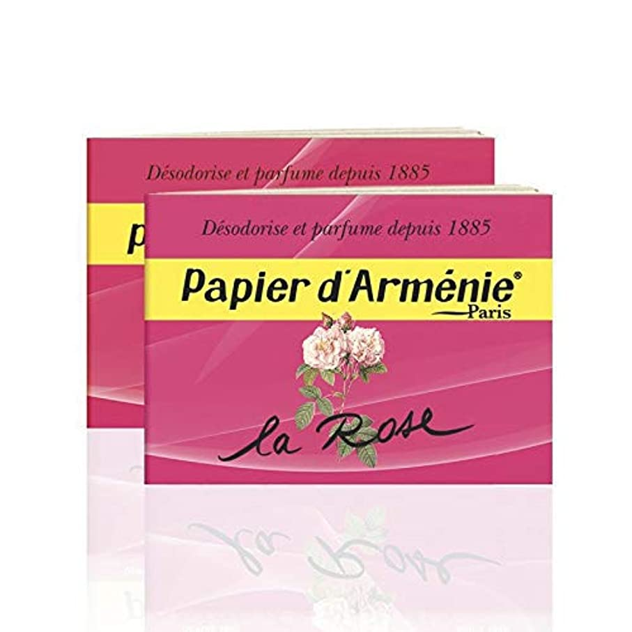 間隔チロ時間厳守Papier d'Arménie パピエダルメニイ ローズ 紙のお香 フランス直送 [並行輸入品] (2個)