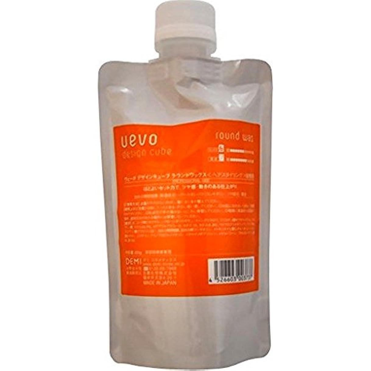 揺れる化学薬品ラベンダーウェーボ デザインキューブ ラウンドワックス 200