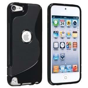 【アウトレット品】Apple iPod touch 5 アウトドアスタイルケース (アイポッドタッチ 2012年 第5世代 iPod 5th 対応) Outdoor Style TPU Case ロゴカットデザイン + 液晶保護フィルム1枚【Mad Black(黒)】