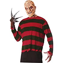 A Nightmare On Elm Street - Freddy Krueger Adult Costume Kitエルム街の悪??夢 - フレディ?クルーガー大人用コスチュームキット♪ハロウィン♪サイズ:One Size