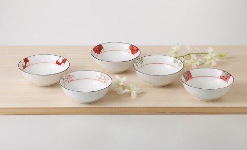 西海陶器 赤絵絵変り 小鉢揃 31931