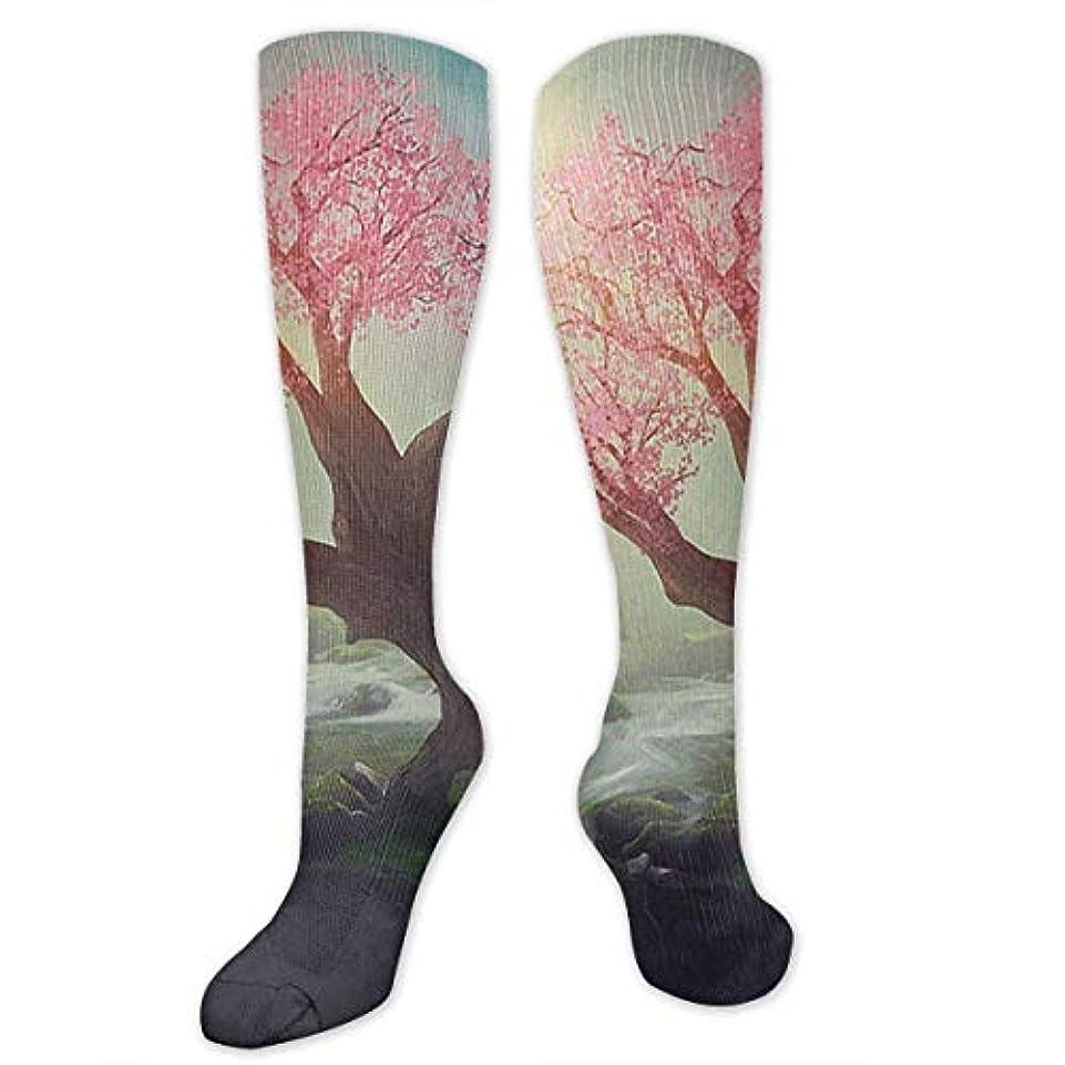中傷メイトテーブルを設定する靴下,ストッキング,野生のジョーカー,実際,秋の本質,冬必須,サマーウェア&RBXAA Peach Tree in The Forest Socks Women's Winter Cotton Long Tube Socks...