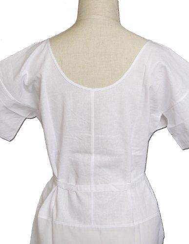 Mサイズ【婚礼・礼装用】和装スリップ スリップスタイルに仕上げた肌襦袢&裾除け 深い襟ぐりです。【日本製】