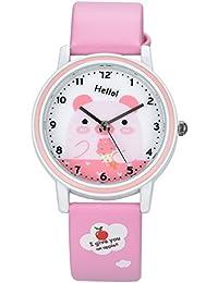 「キッズ」Kezzi K667 ガールズ時計 (ピンク)