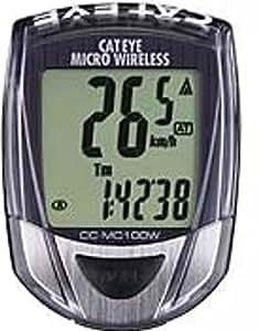 キャットアイ(CAT EYE) サイクルコンピュータ ブラック マイクロワイヤレス CC-MC100W