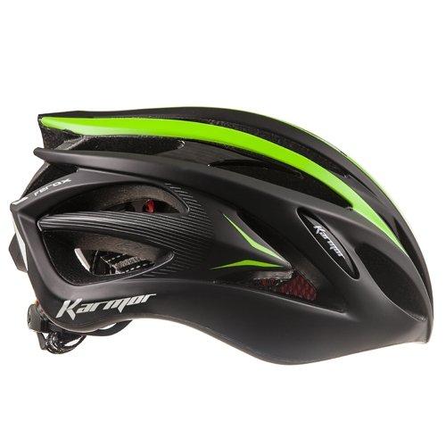 KARMOR(カーマー) FEROX JCF公認 サイクリングヘルメット S/M ブラック+グリーン