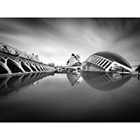 Warby City Arts Sciences Valencia Photo Cityscape Large XL Wall Art Canvas Print 戦争シティ科学写真街並み壁
