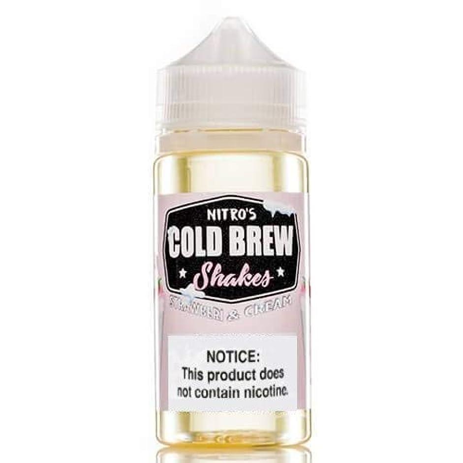 畝間閃光敬意を表する大人気 NITRO'S COLD BREW VAPE 電子タバコ リキッド USA産 VapeHub.JPオリジナルセット (Strawberi And Cream, 100ml)