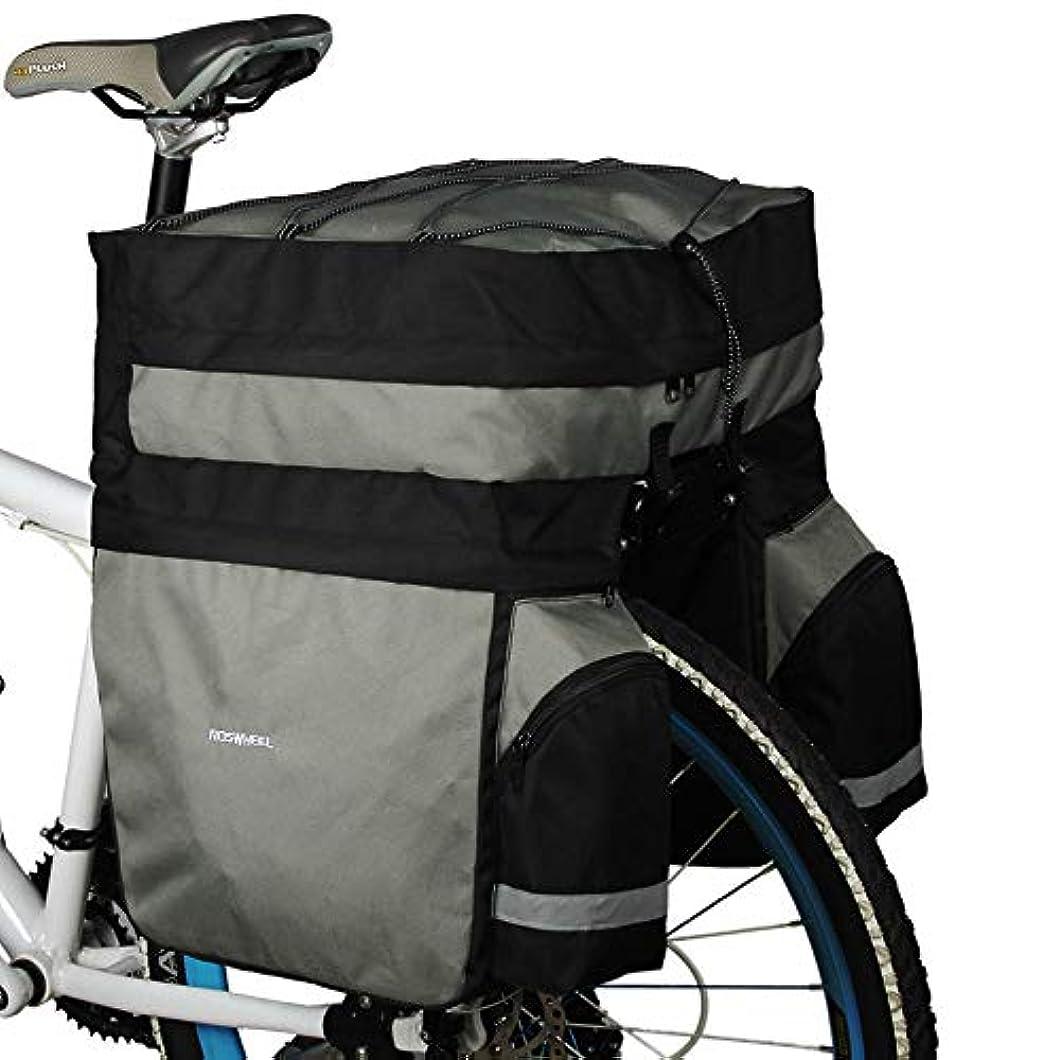 滝葉っぱ出費Irfora ROSWHEEL サイクリング自転車バッグ バイク両面リアラック テールシートトランクバッグパニエ 60L