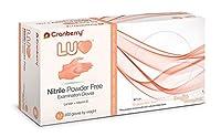 CR3337 Cranberry Luv Series 3330 Nitrile Powder Free Examination Glove,Tangerine,Medium (Pack of 200) [並行輸入品]