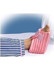 ヒールプロテクター枕、足首サポート枕フットプロテクション、足枕、1ペア、ピンク