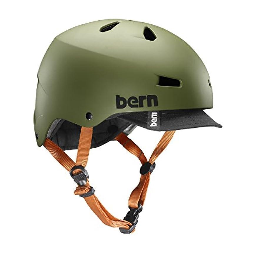 精巧な蛇行更新bern(バーン) ヘルメット ヘルメット MACON VISOR メンズ 自転車 スケートボード BE-VM2BHMOGV-05 Matte Olive XL