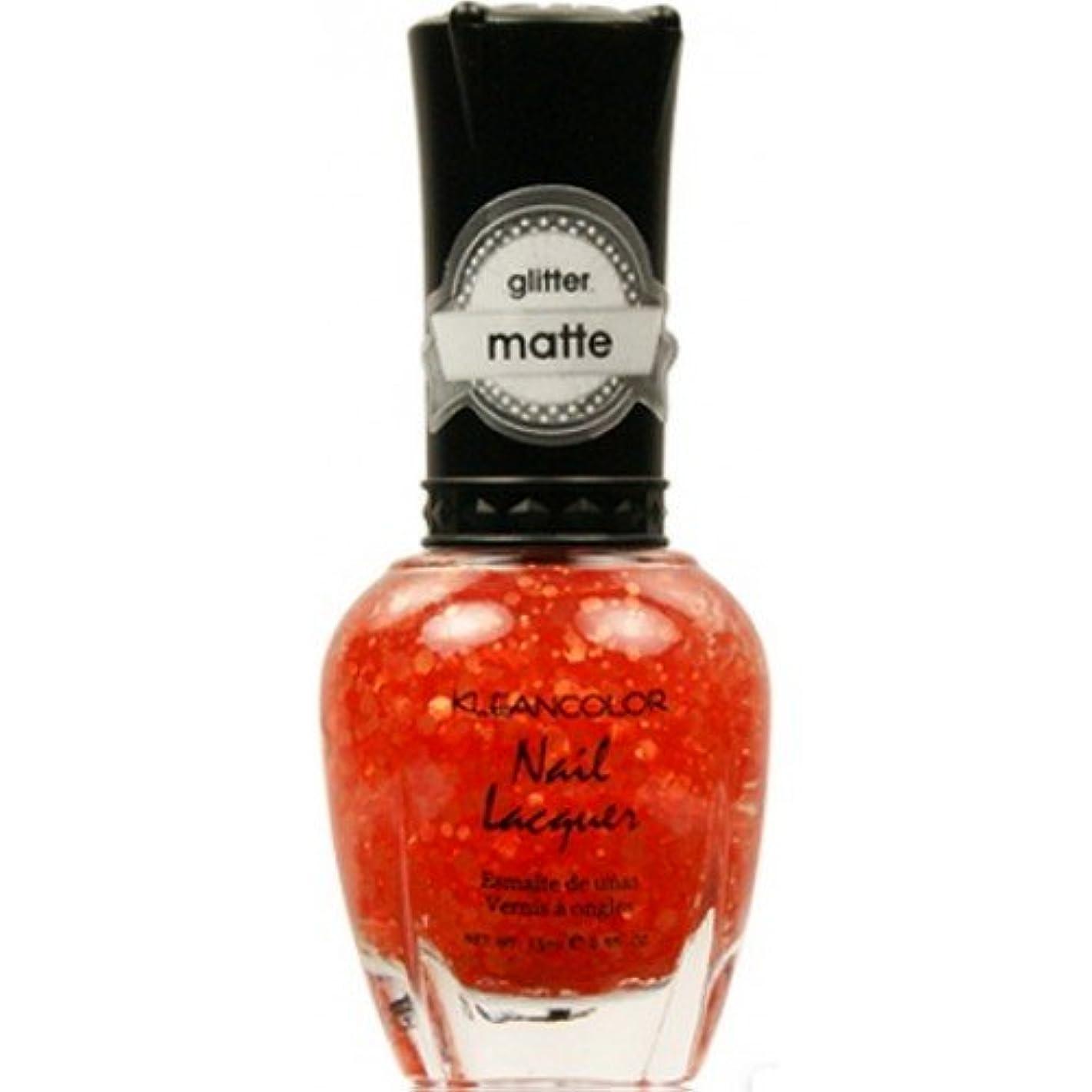 外国人比較ペナルティ(6 Pack) KLEANCOLOR Glitter Matte Nail Lacquer - Poppy Field (並行輸入品)