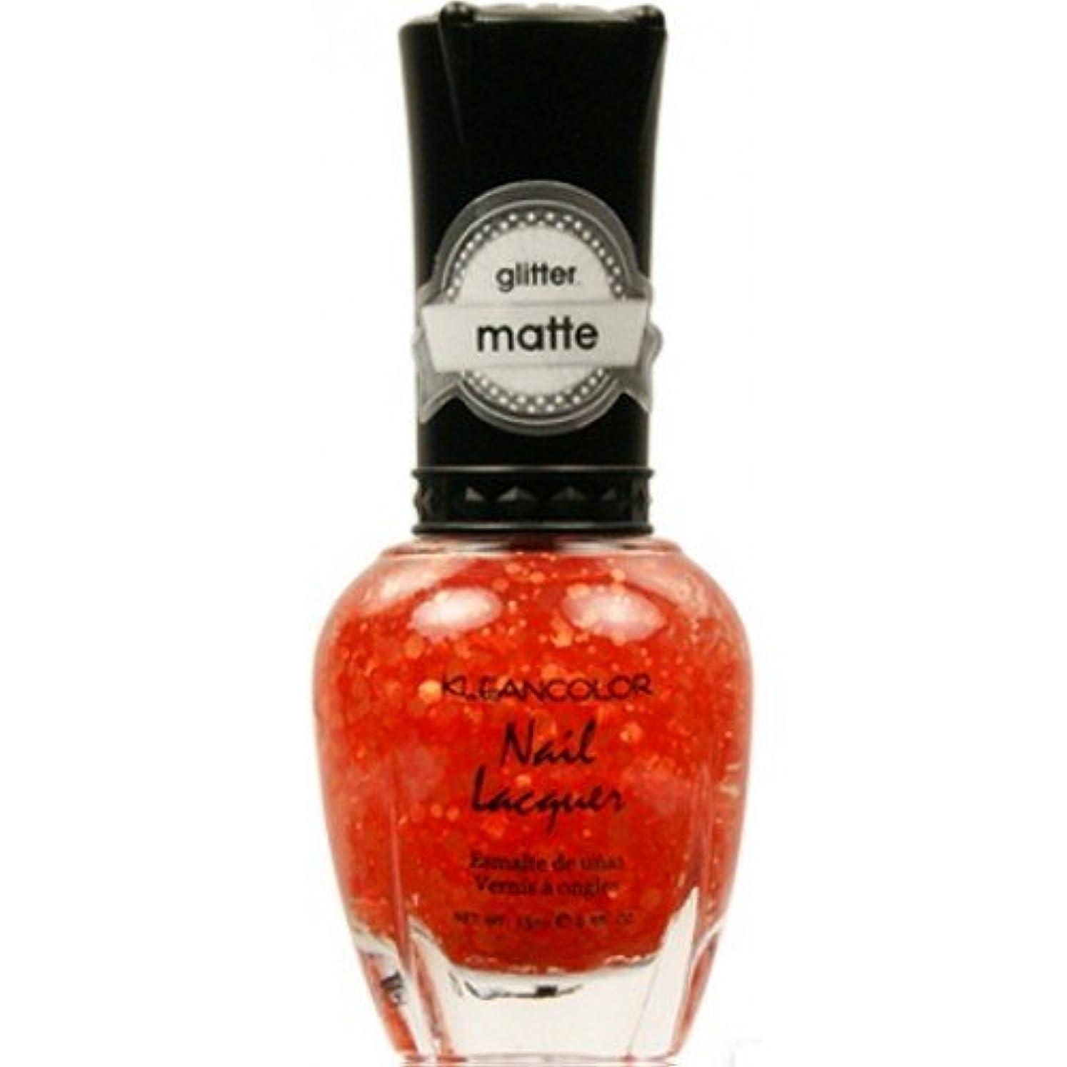 無心羊項目(6 Pack) KLEANCOLOR Glitter Matte Nail Lacquer - Poppy Field (並行輸入品)