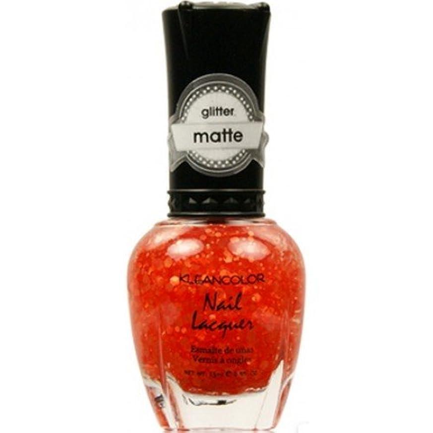 退屈支配する気楽な(6 Pack) KLEANCOLOR Glitter Matte Nail Lacquer - Poppy Field (並行輸入品)
