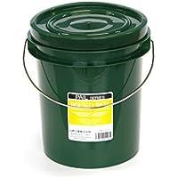 粘土 保存用 密封容器 ふた付き バケツ プラスチックペール缶グリーン 4.3L (5(4.3L))