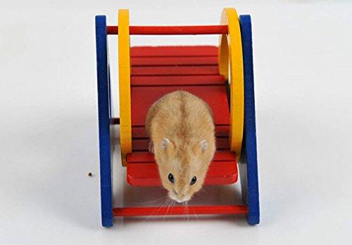 Emours シーソー かわいい おもちゃ 小動物 遊具 木製