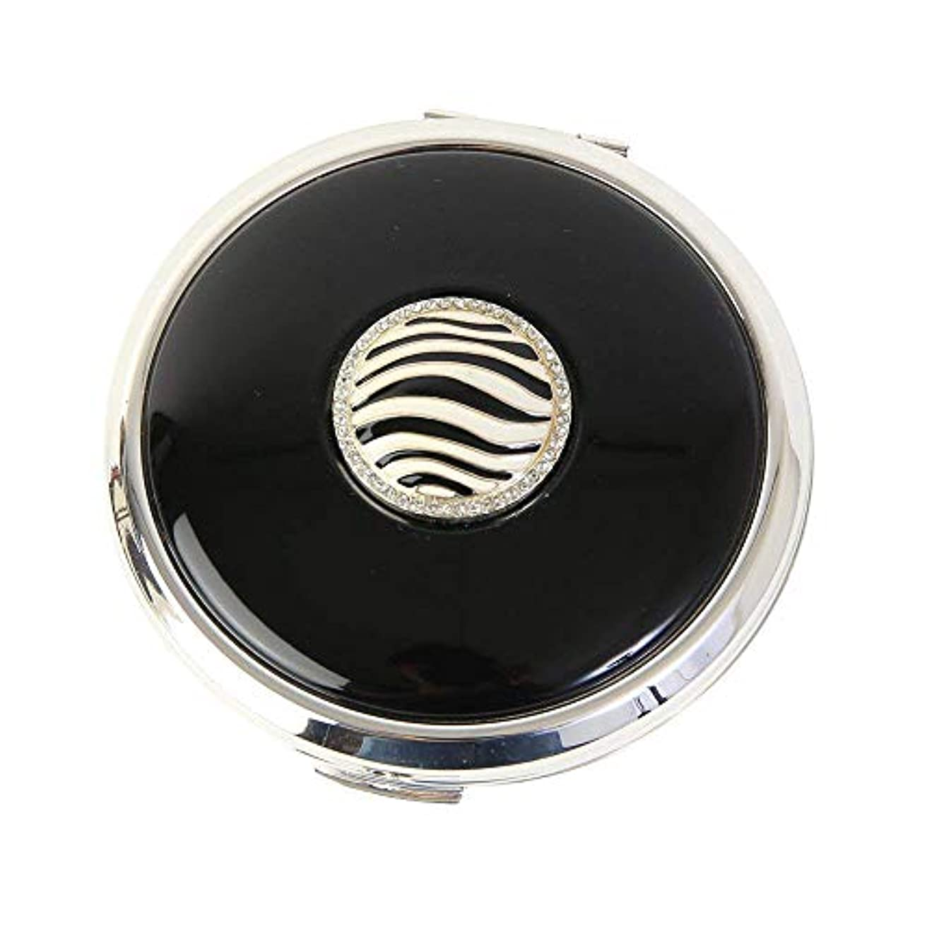 社交的スタイルナラーバーStratton ストラットン コンパクト コンバーティブル おしろいケース&ミラー ブラック Zebra ST1118