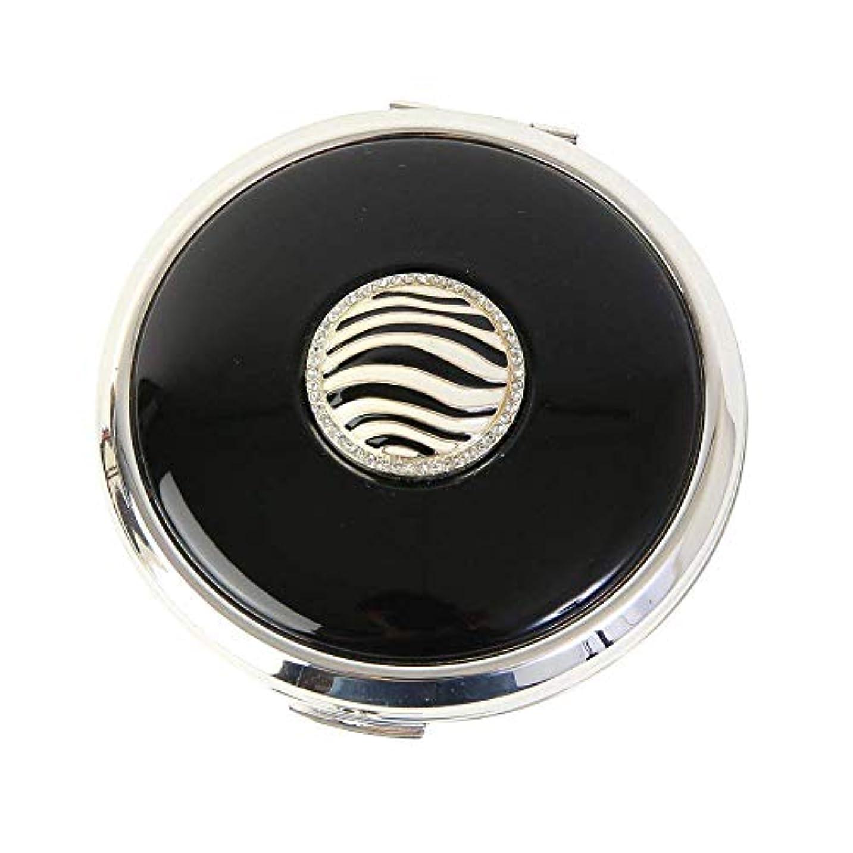 衛星喜び衛星Stratton ストラットン コンパクト コンバーティブル おしろいケース&ミラー ブラック Zebra ST1118