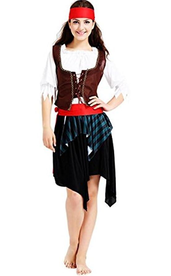起こる豊富な原子炉[笑顔一番] 大人 女 カリブ 海賊 コスプレ 衣装 セット コスチューム 仮装 パイレーツ オブ カリビアン パーティ ハロウィン メンズ レディース 176-11 (2) レディース)