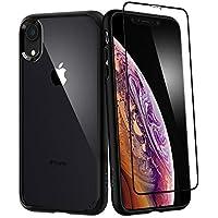 【Spigen】 スマホケース iPhone XR ケース 6.1インチ 対応 360度保護 全面 保護 背面 クリア 耐衝撃 米軍MIL規格取得 ウルトラ・ハイブリッド360 064CS24887 (ブラック)