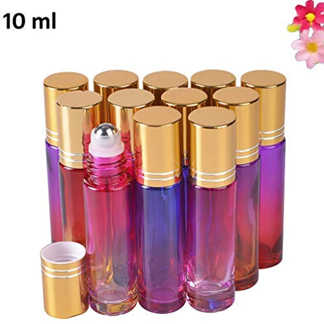 12 pack Essential Oil Roller Bottles 10ml with Beautiful Color [並行輸入品]