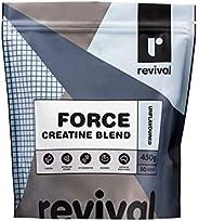 Revival Force Creatine Blend   Performance Focused   5 Ingredient ATP Blend   50 servings, Unflavoured 450 gra