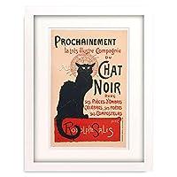 テオフィル・アレクサンドル・スタンラン Steinlen, Theophile-Alexandre 「Black Cat (Le Chat Noir). Poster for the cabaret in Montmartre. 1896」 額装アート作品