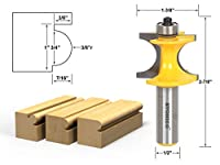 Yonico 13195 Bullnose Beading Router Bit 3/8r - 3/4 bead 1/2 Shank by Yonico