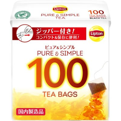ユニリーバ リプトン ピュア&シンプル ティーバッグ 100袋