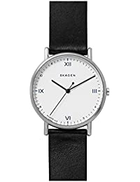 SKAGEN x Playtype SKW6412 Signatur Black Leather Watch [スカーゲン] シグネチャー ブラック レザー 腕時計 [並行輸入品]