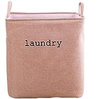 ランドリーバスケットコットンバーラップ折り畳み式汚れたハンパーの家庭用衣類雑貨の保管バスケット (色 : D, サイズ さいず : 35 * 25 * 40cm)
