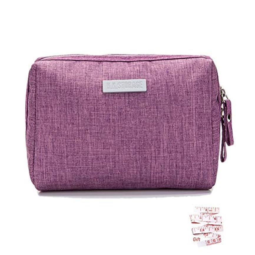 戸惑う午後活性化するKaitein 化粧ポーチ 大容量 超軽量 防水 化粧品収納ポーチ 旅行 出張 普段使い 化粧バッグ 紫
