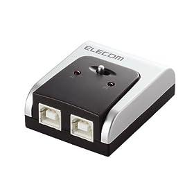 ELECOM USB2.0対応切替器 PC2台用 動作PC確認ランプ付き U2SW-T2