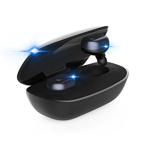 COUPLE M6 TWS Bluetoothワイヤレスヘッドフォン、4.1ステルスワイヤレスイヤホンサラウンドイヤホンBluetoothイヤプラグと充電ボックス、内蔵マイク(黒)