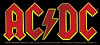"""AC/DC Glitter Logo STICKER, Officially Licensed Products Classic Rock Artwork, 2.4"""" x 5"""" - Long Lasting Sticker DECAL"""