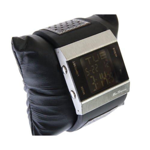 Ben Sherman ベンシャーマン デジタル ブラック 腕時計 本革 ウォッチ レザーベルト LED r220