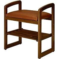 ソリッドウッドの靴のベンチは持ち上げて下げることができます、靴のベンチは保存することができますウォールナットカラー(製品は靴のラックが含まれています)