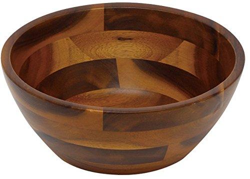 丸和貿易 木製食器 アカシア サラダボール2型 (XL) 100374904