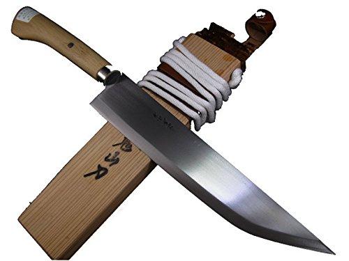 西根打刃物製作所 叉鬼山刀(マタギナガサ) 木の柄ナガサ (9.5寸)