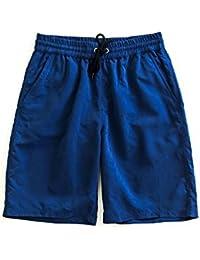 Aseal 水着 メンズ トランクス ショーツ サーフパンツ 水陸両用 海パン ジョギング アウトドア (迷彩 ネイビー ブラック ブルー レッド カーキ) as14 M L XL