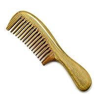 ヘアブラシ 太い髪 - 人間工学的の波のハンドルのためのビャクダンの櫛の自然な木の櫛 メンズ レディースに適用