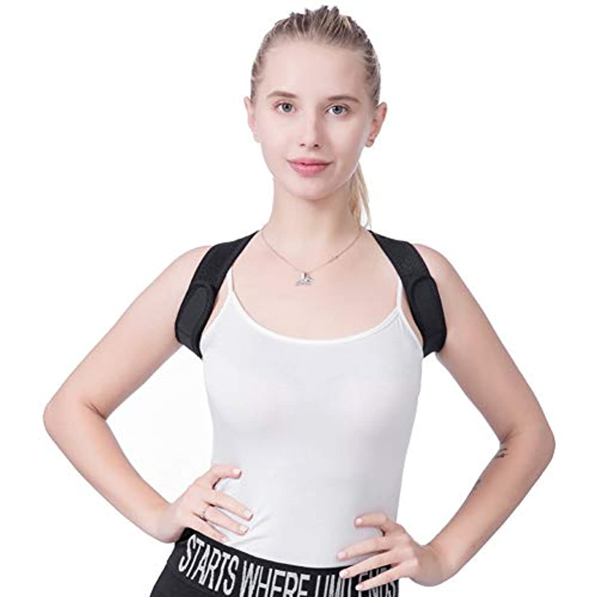 脊椎サポートベルト装具コルセット整形外科ウエストショルダーブレースバックサポートベルト補正メイクアップツール用女性男性 B830