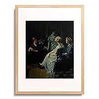 Jones, Francis Coates,1857-1932 「Freundinnen im Gesprach.」 額装アート作品