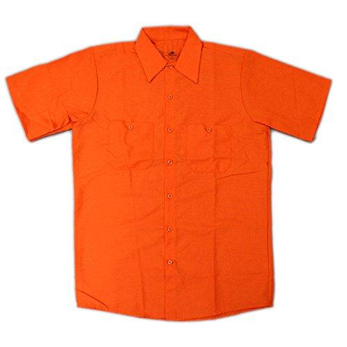 RED KAP(レッドキャップ)/SHORT SLEEVE SOLID WORK SHIRTS(半袖ソリッドワークシャツ) M OR:オレンジ(Orange)