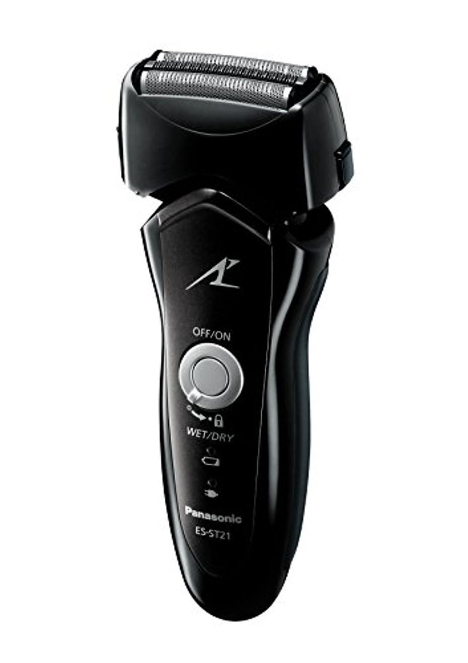 音適用する掃くパナソニック ラムダッシュ 3枚刃 黒 ES-ST21-K